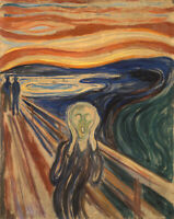The Scream Painting Edvard Munch Print on CANVAS Giclee Reproduction Small 8x10