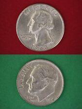 MAKE OFFER $5.00 Face Silver Roosevelt Dimes & Washington Quarters Junk Coins