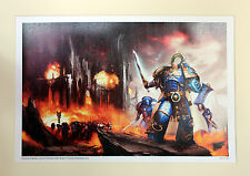 WARHAMMER 40K NERO libreria roboute guilliman A3 LIMITED ED galleria print 63