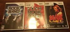 Lot of 3 Wii ROCK BAND  TRACK PACK 2 AC/DC