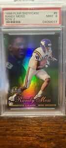 RANDY MOSS 1998 FLAIR SHOWCASE #5 ROW 2 🏈 ROOKIE RC PSA 9 NFL HOF VIKINGS