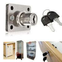 Twice Turn Lock  2key Hardware Iron Long Bolt Desk Cabinet Drawer Lock Useful FA