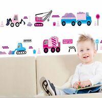 NEW Cartoon Car DIY Wall Sticker for Kids Baby Room Nursery Mural Art Home Decor