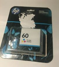 HP 60 Tri-Color Ink Cartridge, Genuine, Original for Superior Prints Exp 10/2019