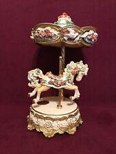 New listing San Francisco Music Box Company Vanity Single Horse w/Canopy Ltd. Edition.