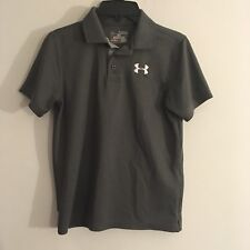 Under Armour MEDAL PLAY Polo Shirt •GRAY• Boys Youth MEDIUM
