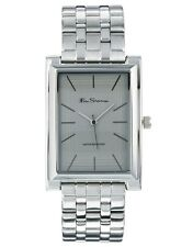 BRAND NEW MENS BEN SHERMAN  WATCH GREY DIAL STAINLESS STEEL BRACELET BS003