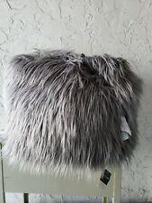 Madison Park Edina Eyelash Faux Fur Pouf