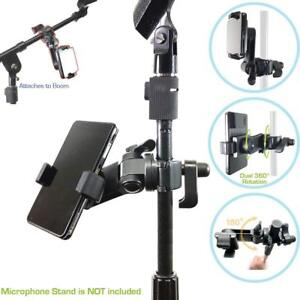 Universal Microphone Mic Stand Mount Phone Holder For Iphone Samsung Smartphone