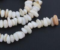 Perlmutt Perlen Muschel Nugget 40stk Weiß 8mm bis 10mm Schmuckherstellung P140