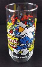Vintage 1983 Hardee's Peyo Smurf Collector Glass BAKER Tumbler
