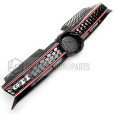 VW GOLF MK6 2009-13 GTI STYLE HONEYCOMB FRONT RADIATOR BUMPER GRILLE BLACK RED