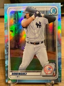2020 BOWMAN DRAFT CHROME JASSON DOMINGUEZ SKY BLUE REFRACTOR #BD-151 RC