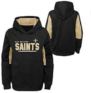 New Orleans Saints Youth Boys Long Season Performance Pullover Hoody Sweatshirt