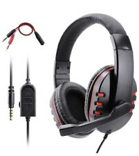 Dhaose PS4 Headset Red 3.5mm Wired Over Head Stereo