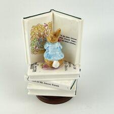 More details for vintage schmid peter rabbit cottontail beatrix potter musical books figurine
