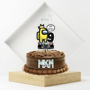 *SALE SPECIAL *Among Us PERSONALISED Game Birthday Cake Topper