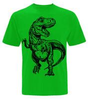 kids Dinosaur T-Shirt 3 - 13 year old boys girl Jurassic childrens Gift T Rex z1
