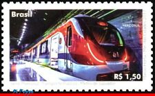 17-06 BRAZIL 2017 RAILWAYS, TRAINS, MERCOSUR ISSUED, PUBLIC TRANSPORT,SUBWAY,MNH
