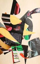 Hand made abstract collage