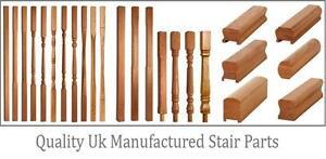 White Oak 41mm Stop Chamfer Stair and Landing Balustrade Kit - UK Manufactured!