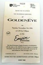 James Bond Goldeneye Original Multi-Media UK Screening Invitation Ticket 1995