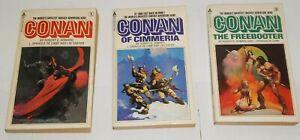 CONAN(#1)/Of Cimmeria(#2)/The Freebooter(#3)-Robert E Howard-Ace Paperback Set