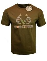 REALTREE Mens T Shirt M L XL XXL American Deer Buck Logo Hunting Camo Tee NEW