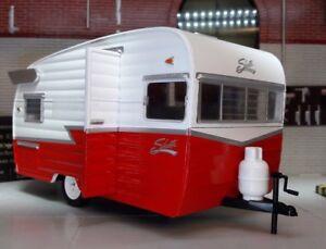 1:24 Scale Red 1961 Shasta Airflyte US American Caravan Diecast Detailed Model