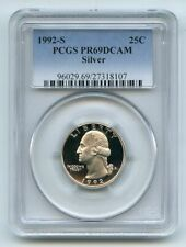 1992 S 25C Silver Washington Quarter Proof PCGS PR69DCAM