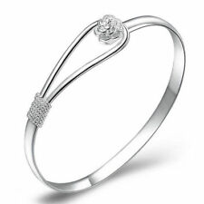 Fashion Silver Gold Charms Bracelet Crystal Rhinestone Bangle Adjustable Chain