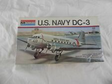 MONOGRAM 7590: U.S. NAVY DC-3 DOUGLAS TWIN-ENGINE WORKHORSE 1:72 SCALE (1975)