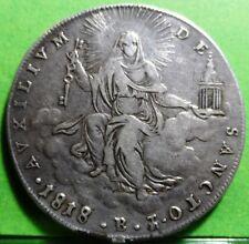 VATICAN - Papal States - 1818 -B  Scudo PIUS VII  Silver  SCARCE