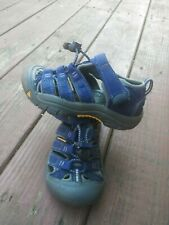KEEN  Sandals 10 Toddler Boy Blue Waterproof Hiking Canvas Outdoor Shoes