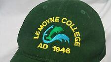 Lemoyne College Baseball Hat Adjustable Physical Plant College Green 1946 Work