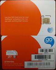 AT&T GO PHONE MICRO SIM Card  AT&T OEM MICRO 4G SIM CARD 4G LTE. SKU# 6007A