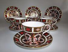 Royal Crown Derby Old Imari 1128 Tea Set, 6 x Cups & Saucers. c1978 1st Quality.