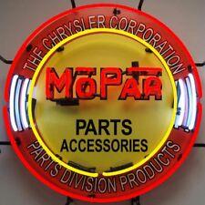 Neon Sign Mopar Parts Chrysler Dodge Dealership sign 1950's style garage lamp