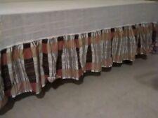 "Full Size Ruffle Bed Skirt 82"" long x 65"" wide, Nwot"