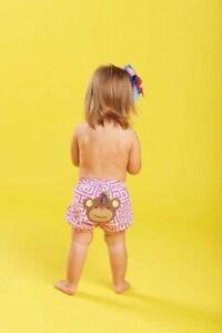 Mud Pie Safari Baby Girl Monkey Diaper Cover (0-12M) 1172101