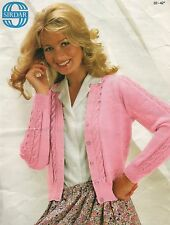 Vintage Knitting Pattern For Ladies Summer cardigan In 4ply Size 32 - 42