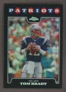 2008 Topps Chrome Black Refractor Tom Brady New England Patriots