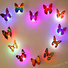 Glowing 3D Butterfly LED Wall Sticker Light Art Decal Lamp Home Kids Room Decor