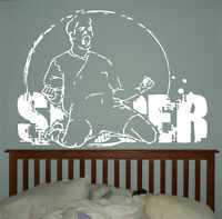 Wall Vinyl Sticker Bedroom Soccer Football Sport Game Ball Kids Nursery bo3085
