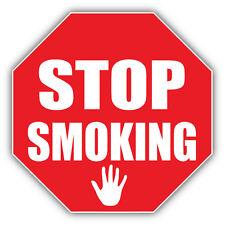 Stop Smoking Sign Car Bumper Sticker Decal 5'' x 5''