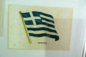 B.D.V. Cigarettes Silk FLAG- GREECE SILK FLAG (apx. 7x5 cm)