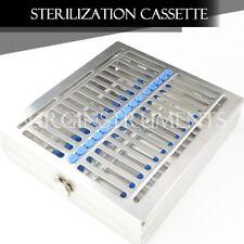 "Sterilization Cassette 8"" X 7"" X 1.5"" W/ Locking Clamp - Surgical Medical Dental"
