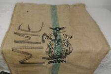 HARIMAU Small TIGER Head SUMATRA INDONESIA Coffee Bean BURLAP BAG Wall Art Sack
