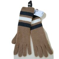 MICHAEL KORS FISHERMAN RUGBY GLOVES CAMEL ONE