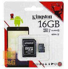NEW BOX KINGSTON 16GB MICRO SD SDHC CLASS10 FLASH MEMORY CARD / 80MB/s